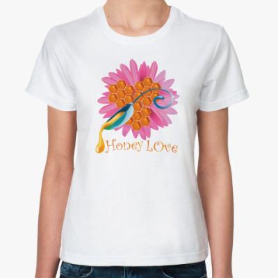 Классическая футболка  Медовая любовь