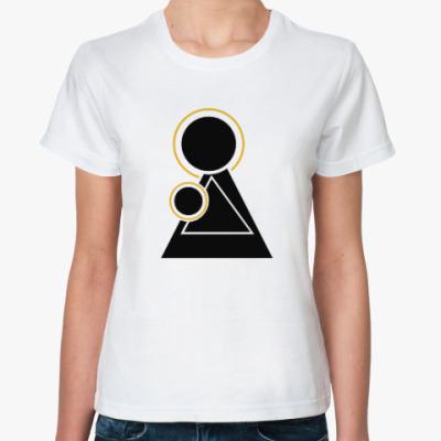 Классическая футболка Женщина с ребенком
