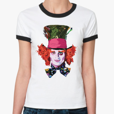 Женская футболка Ringer-T Mad Hatter  Жен ()