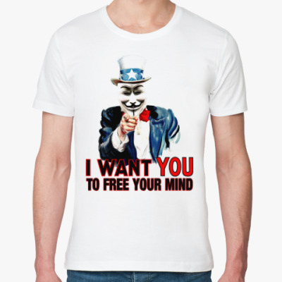 Футболка из органик-хлопка Anonymous Uncle Sam