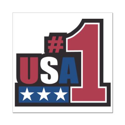 Наклейка (стикер) USA 1