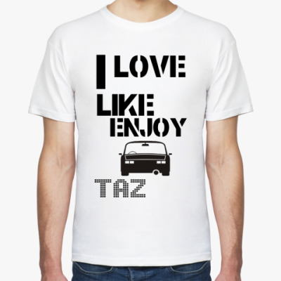 Футболка I love TAZ