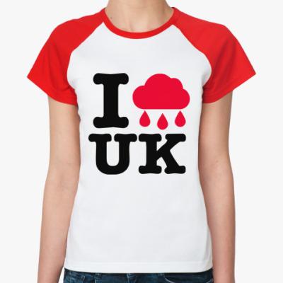 Женская футболка реглан   Англия
