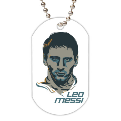 Жетон dog-tag Leo Messi