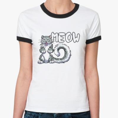 Женская футболка Ringer-T Мяу