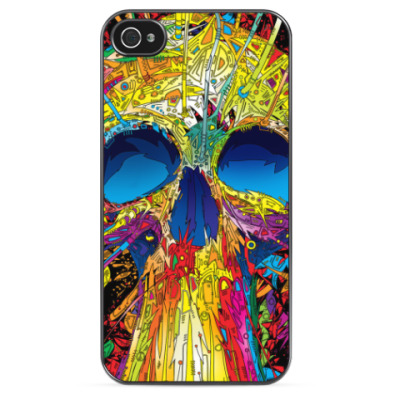 Чехол для iPhone 'Красочный череп'