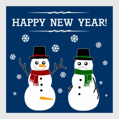 Постер Happy Snowman