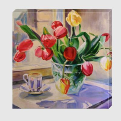 Холст Букет тюльпанов