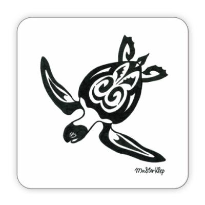 Костер (подставка под кружку) Морская черепаха