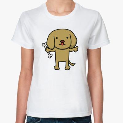 Классическая футболка 'Щенок'