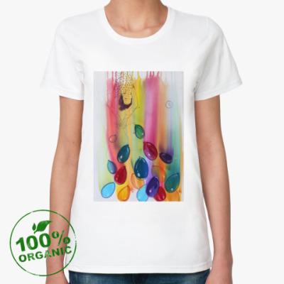 Женская футболка из органик-хлопка полет