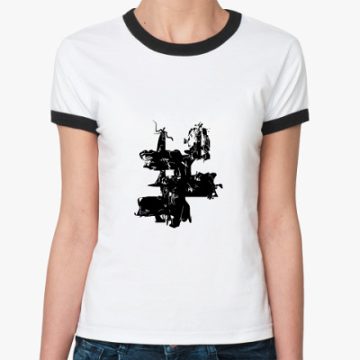 Женская футболка Ringer-T  _Цифротушь