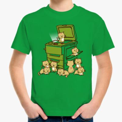 Детская футболка Копировальный котоаппарат