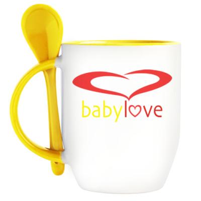Кружка с ложкой Baby Love
