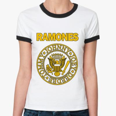 Женская футболка Ringer-T Ramones yell Ж ()