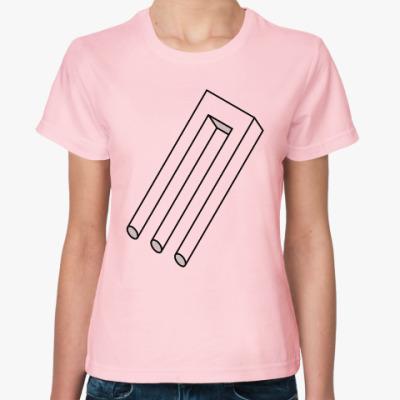 Женская футболка Невозможный трезубец