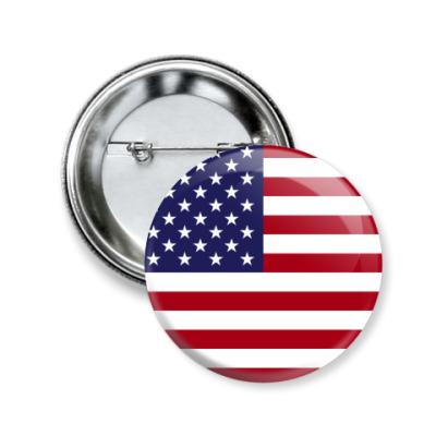 Значок 50мм США, USA, Америка