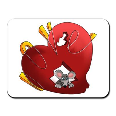 Коврик для мыши Сердце для мыши