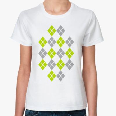 Классическая футболка Ромбики