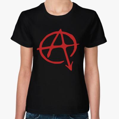 Женская футболка Анархия