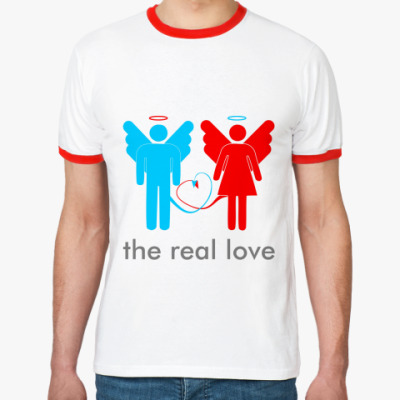 Футболка Ringer-T The real love