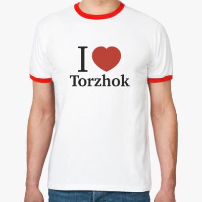 Футболка Ringer-T Я люблю Торжок