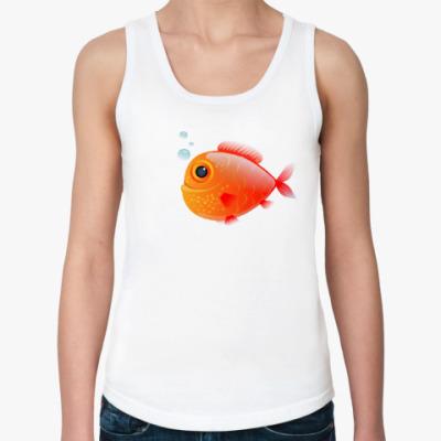 Женская майка Довольная рыба