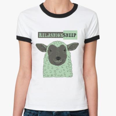 Женская футболка Ringer-T овечка