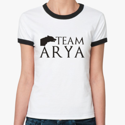Женская футболка Ringer-T Команда Арии