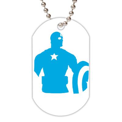 Жетон dog-tag  Капитан америка