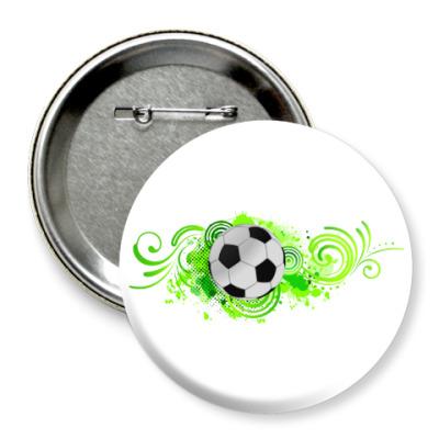 Значок 75мм Футбольный мяч