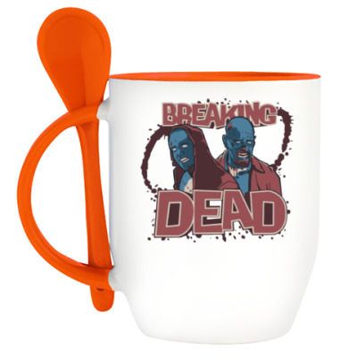 Кружка с ложкой Breaking Bad - Walking Dead