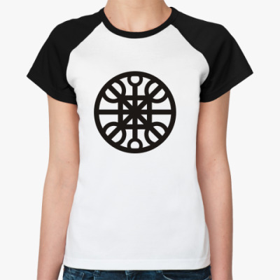 Женская футболка реглан  'Круг'