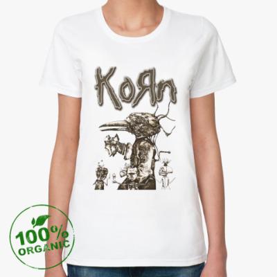 Женская футболка из органик-хлопка Korn