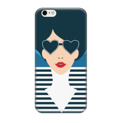 Чехол для iPhone 6/6s Француженка, фэшн иллюстрация, поп арт