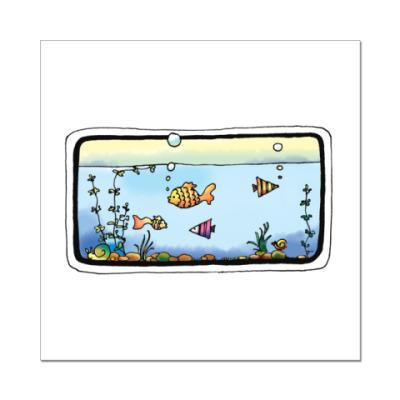 Наклейка (стикер) Рыбки