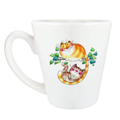 Чашка Латте Мурчанье котят