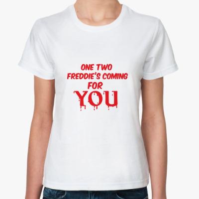 Классическая футболка Считалка Фредди Крюгера