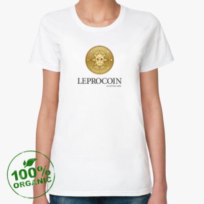 Женская футболка из органик-хлопка Leprocoin