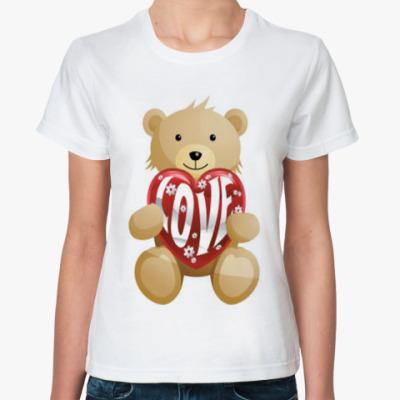 """Классическая футболка   """"Love"""""""