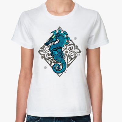 Классическая футболка Морской Конь
