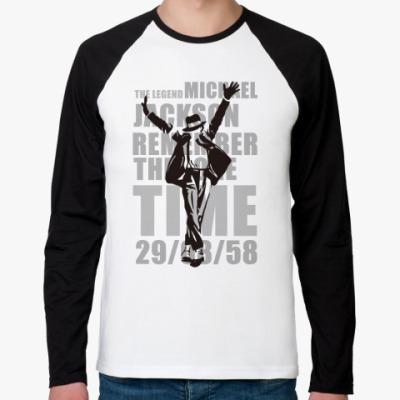 Футболка реглан с длинным рукавом MJ