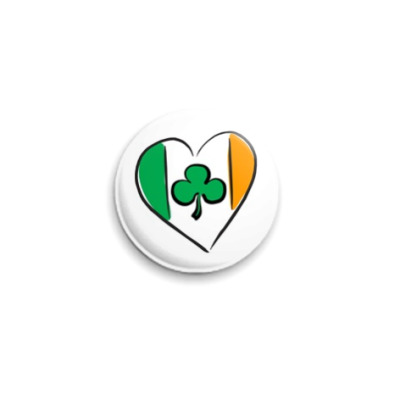 Значок 25мм  'Я Люблю Ирландию'