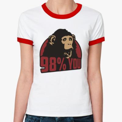 Женская футболка Ringer-T 98% тебя