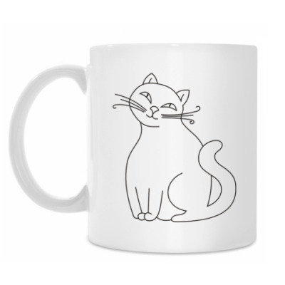 Кружка Для задумчивой кошки