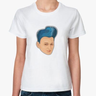 Классическая футболка Blue hair
