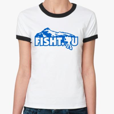 Женская футболка Ringer-T RT  футболка FISHT.RU