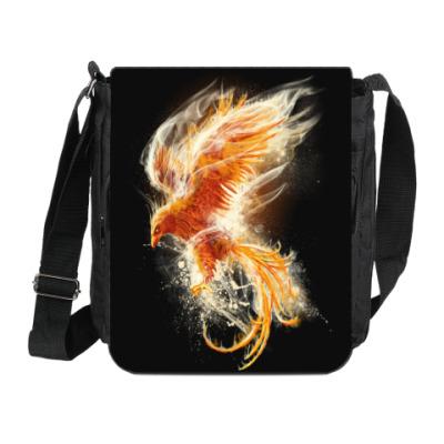 Сумка на плечо (мини-планшет) Птица Феникс Fenix bird