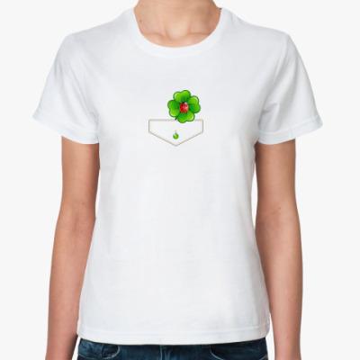 Классическая футболка Карман с клевером