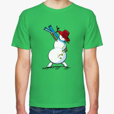 Футболка Танцующий снеговик